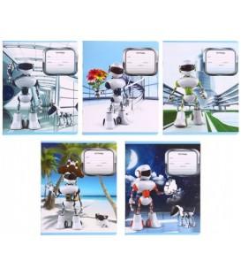 Тетрадь школьная А5, 12 л. на скобе «Роботы» 164*203 мм, клетка, ассорти