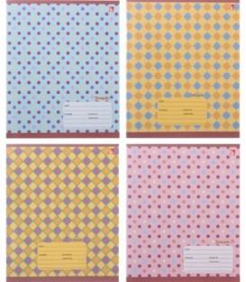Тетрадь школьная А5, 12 л. на скобе «Разноцветный орнамент» 165*205 мм, линия, ассорти
