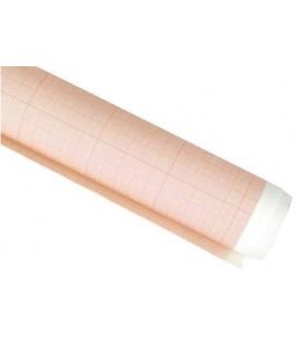 Бумага масштабно-координатная «миллиметровка» 640 мм*10 м, оранжевая