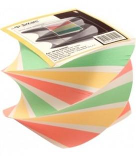 Блок бумаги для заметок «Спираль» 80*80*80 мм, проклеенный, 4 цвета