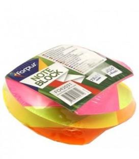 Блок бумаги для заметок «Спираль» 75*75*35 мм, проклееный, 4 цвета, неон