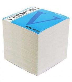 Блок бумаги для заметок Vermont 90*90*90 мм, непроклеенный, белый