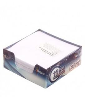 Бокс с бумагой для заметок Forpus 85*85*30 мм, непроклеенный, белый