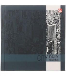 Ежедневник недатированный «Офисный стиль» 130*131 мм, 128 л., «Деловой город»