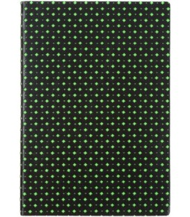 Ежедневник недатированный «Сариф» 145*205 мм, 120 л., черно-салатовый