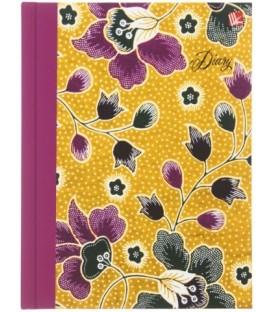 Ежедневник недатированный «Орнамент» 128*168 мм, 128 л., «Цветочное настроение»