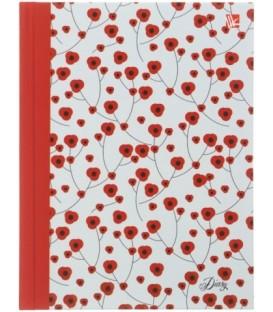 Ежедневник недатированный «Орнамент» 128*168 мм, 128 л., «Цветение»