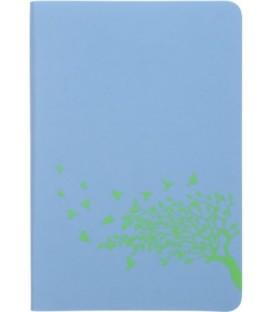 Ежедневник недатированный «Софт-тач» 105*150 мм, 96 л., голубой+салатовый