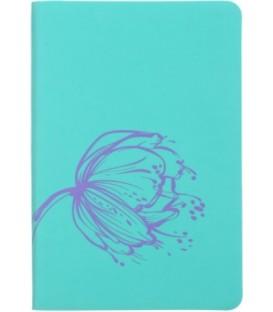 Ежедневник недатированный «Софт-тач» 105*150 мм, 96 л., бирюзовый+сиреневый
