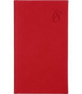 Еженедельник датированный на 2018 год «Виннер» 80*140 мм, 64 л., красный