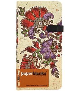 Книжка записная Paperblanks Lyon Florals 90*180 мм, 88 л., линия, «Цветочная страсть. Слоновая кость»
