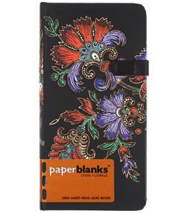 Книжка записная Paperblanks Lyon Florals 90*180 мм, 88 л., линия, «Цветочная страсть. Черная»