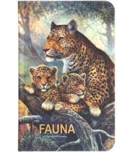 Книжка записная «Проф-пресс.Collezione» 90*140 мм, 80 л., клетка, «Семейство ягуаров»