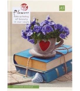 Книжка записная «Проф-пресс» 145*200 мм, 192 л., клетка, «Букет с любовью»
