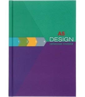 Книжка записная «Проф-пресс» 145*200 мм, 64 л., клетка, «Изумрудно-лиловый дизайн»