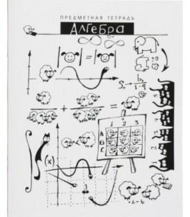 Тетрадь школьная А5, 40 л. на скобе «Шпоргалики» 165*205 мм, клетка, «Алгебра»