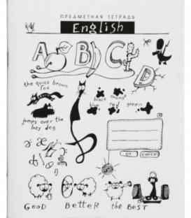 Тетрадь школьная А5, 40 л. на скобе «Шпоргалики» 165*205 мм, клетка, «Английский язык» (белизна бумаги менее 80%)