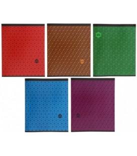 Тетрадь общая А5, 48 л. на скобе «Однотонная с орнаментом» 165*202 мм, клетка, ассорти (белизна бумаги менее 80%)