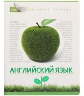 Тетрадь общая А5, 48 л. на скобе «Зеленая серия» 165*205 мм, клетка, «Английский язык»