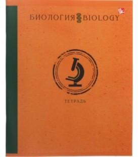 Тетрадь общая А5, 48 л. на скобе «Школьная классика» 165*200 мм, клетка, «Биология»