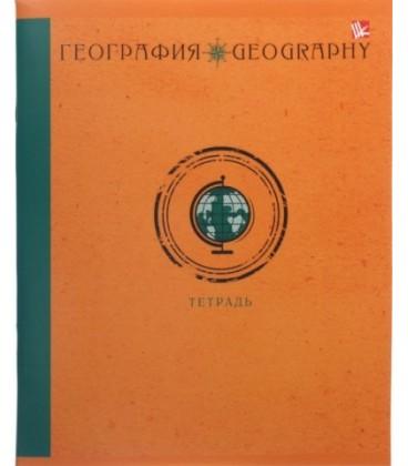 Тетрадь общая А5, 48 л. на скобе «Школьная классика» 165*200 мм, клетка, «География»