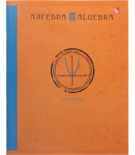 Тетрадь общая А5, 48 л. на скобе «Школьная классика» 165*200 мм, клетка, «Алгебра»