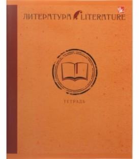 Тетрадь общая А5, 48 л. на скобе «Школьная классика» 165*200 мм, линия, «Литература»