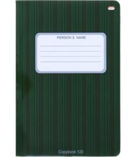 Тетрадь общая В5, 120 л. «Проф-Пресс» 160*240 мм, клетка, «В полоску черно-зеленая»
