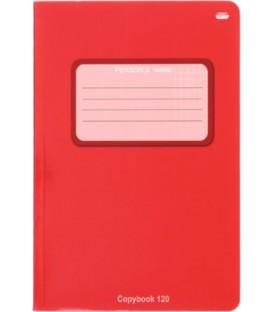 Тетрадь общая В5, 120 л. «Проф-Пресс» 160*240 мм, клетка, «Красная»
