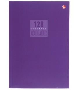 Тетрадь общая А5, 120 л. «Стиль и цвет» 140*202 мм, клетка, «Лиловый»