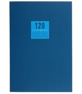 Тетрадь общая А5, 120 л. «Стиль и цвет» 140*202 мм, клетка, «Синий»