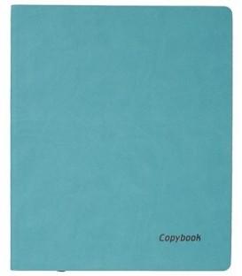 Книжка записная А4, 80 л. «Тетрадь Copybook» 220*265 мм, клетка, бирюзовая/коричневая