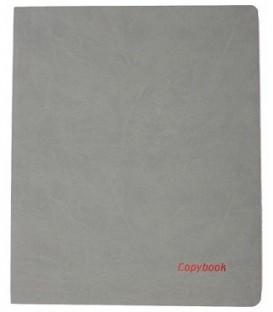 Книжка записная А4, 80 л. «Тетрадь Copybook» 220*265 мм, клетка, графит/красная