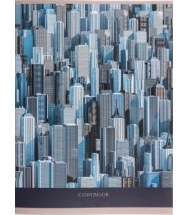 Тетрадь общая А4, 96 л. на скобе «Графика» 202*273 мм, клетка, «Большой город»