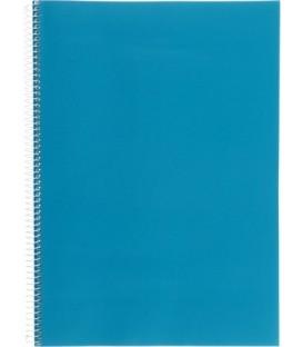 Тетрадь общая А4, 96 л. на гребне 205*290 мм, клетка, синяя