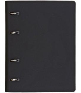 Тетрадь общая А5, 120 л. на кольцах The Notebook 165*215 мм, клетка, «Черный»