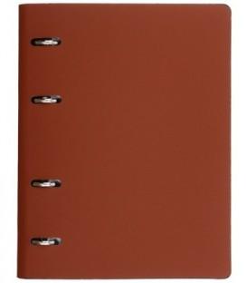 Тетрадь общая А5, 120 л. на кольцах The Notebook 165*215 мм, клетка, «Коричневый»