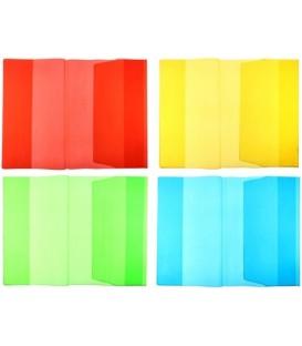 Обложка для учебников универсальная Darvish А5 (450*235 мм), толщина 180 мкм, прозрачная цветная, ассорти (цена за 1 шт.)