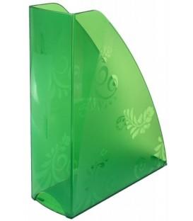 Лоток вертикальный «Русская серия» 290*240*85 мм, прозрачеый зеленый
