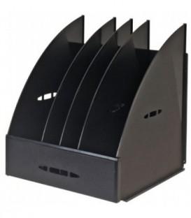 Лоток вертикальный сборный «Эсир» 250*240*290 мм, 4 секции, черный