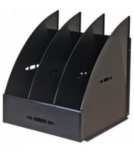 Лоток вертикальный сборный «Эсир» 250*240*290 мм, 3 секции, черный