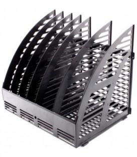 Лоток вертикальный сборный «Эсир» 320*240*290 мм, 6 секций, черный