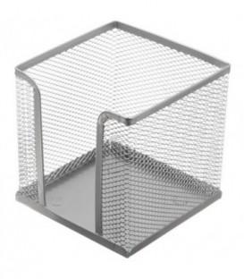 Бокс под бумагу для заметок Optima 100*100*100 мм, серебристый