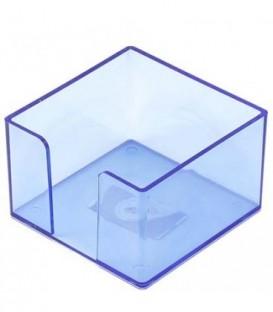 Бокс под бумагу для заметок «Юниопт» 85*85*50 мм, прозрачный синий