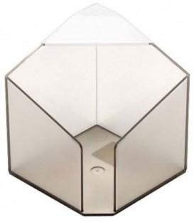 Бокс под бумагу для заметок «Статус» 90*90 мм, прозрачный дымчатый