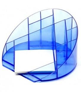 Подставка настольная «Форум» 100*175 мм, прозрачная синяя