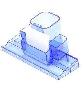 Подставка настольная «Башня» 220*120*120 мм, прозрачная синяя