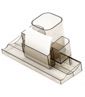 Подставка настольная «Башня» 220*120*120 мм, прозрачная дымчатая