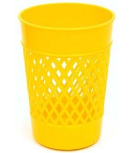 Стакан для канцелярских принадлежностей «Карандашница» 100*75 мм, желтый