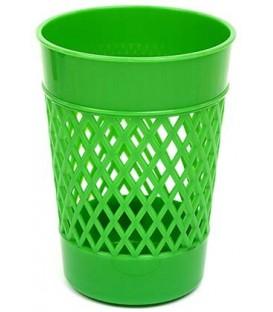 Стакан для канцелярских принадлежностей «Карандашница» 100*75 мм, зеленый